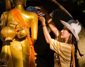 Thailänderin beim Songkran-Festival (Fest des WasserBuddhas)